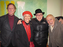 Steven Richman, Phoebe Jacobs (Duke Ellington's publicist), Lew Soloff,  and Columbia Records exec George Avakian