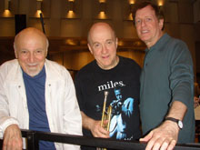 Right to left:  , Lew Soloff, Steven Richman