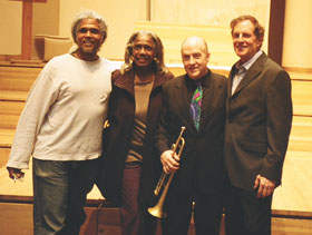 Noah and Anita Evans, Lew Soloff, and Steven Richman.
