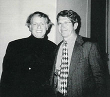 Conductor Steven Richman (left) with John Stravinsky (grandson of Igor Stravinsky)